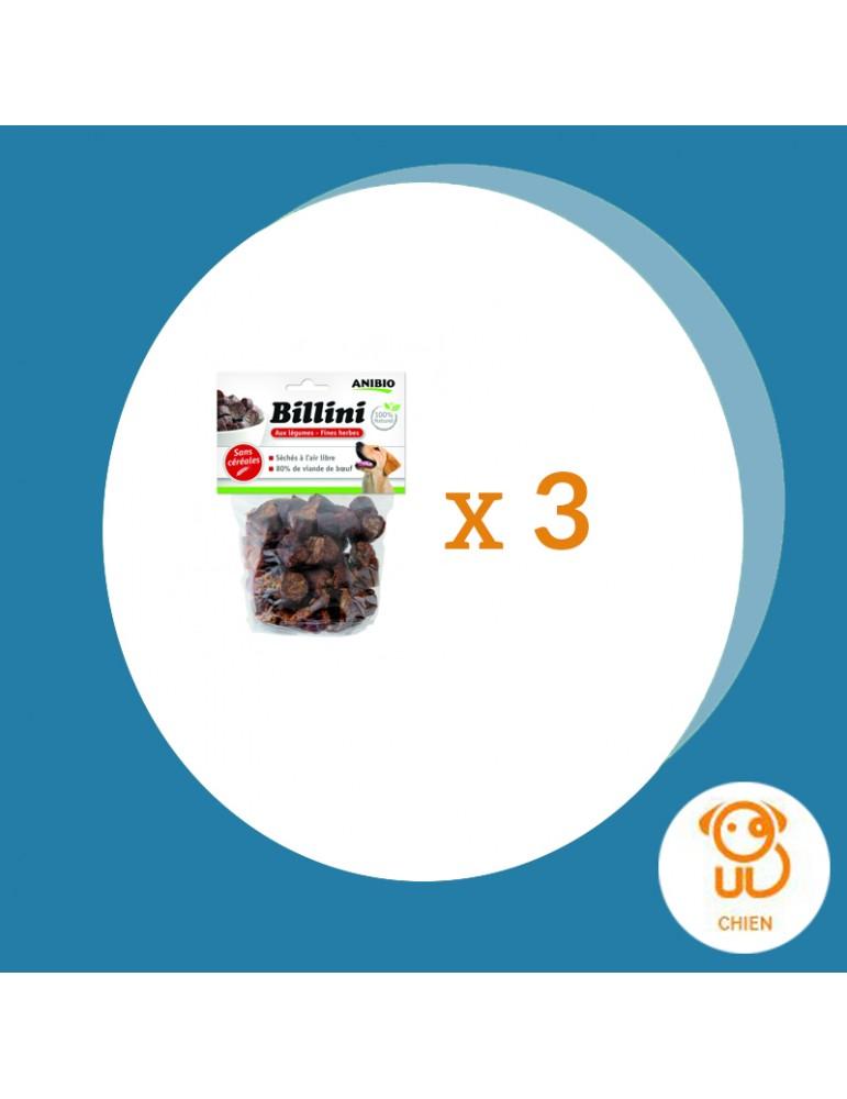 Friandises Billini Anibio Lot de 3 à la viande de boeuf