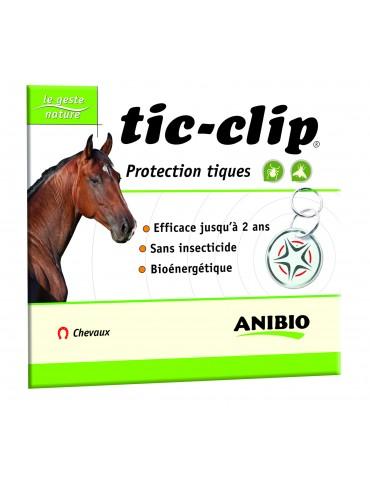 Médaille Tic-clip Cheval Protection Taons, mouches, moustiques Cubies Volaille, Friandises pour Chien Anibio