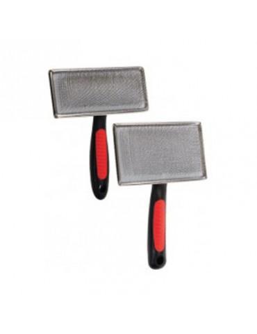 Cadre en métal avec manche rouge et noir