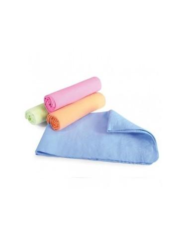 4 serviettes distridog bleu, verte, orange et rose