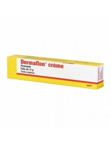 Boîte jaune de Dermaflon, Crème Cicatrisante 30 mg