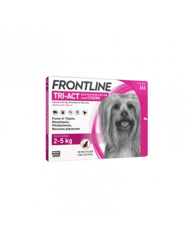 Frontline Tri-Act Pipettes Chien XS