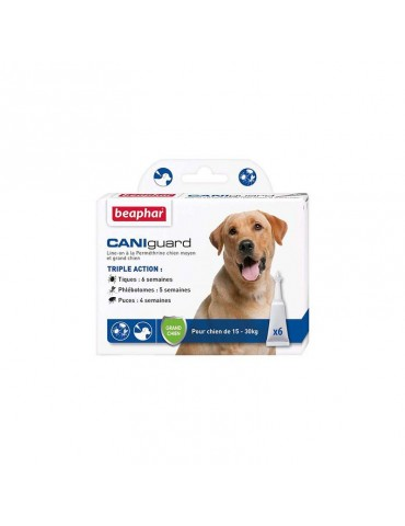 CANIguard Pipettes Antiparasitaires Grands Chiens