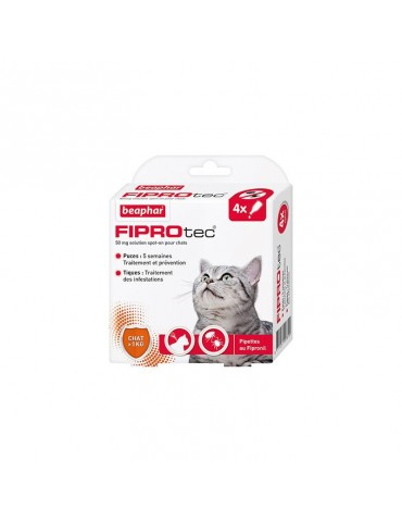 FIPROtec Pipettes Antiparasitaires Au Fipronil Chats