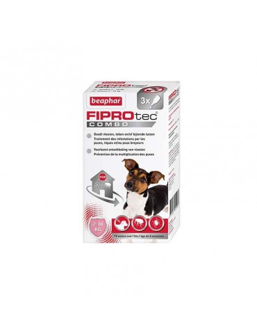 FIPROtec Combo Pipettes Antiparasitaires Petits Chiens