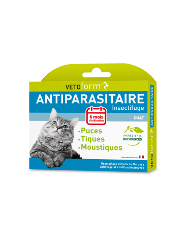 Pipettes Antiparasitaire Chats